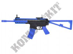 Bison 301 Tactical Combat Rifle Airsoft BB Gun Black and Blue
